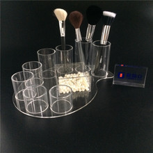 Stile di rotazione 7 scomparti di alta <span class=keywords><strong>acrilico</strong></span> trasparente makeup brush holder/<span class=keywords><strong>acrilico</strong></span> make up scatole