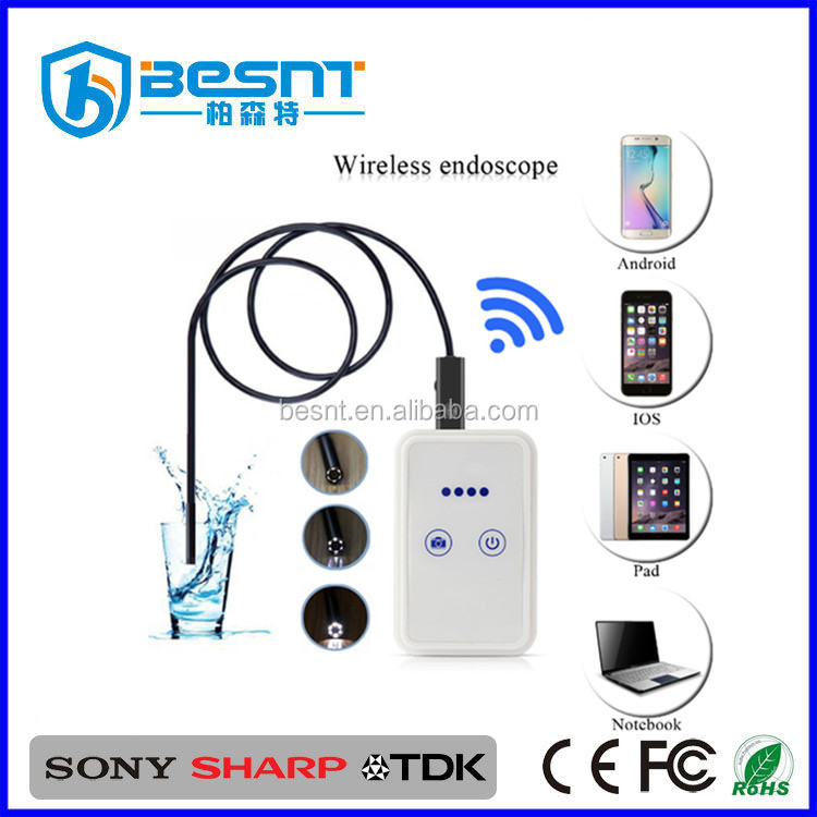 IOS Android PC LED light endoscope camera wifi 2MP waterproof driver usb for smart phone viewing BS-GD33W