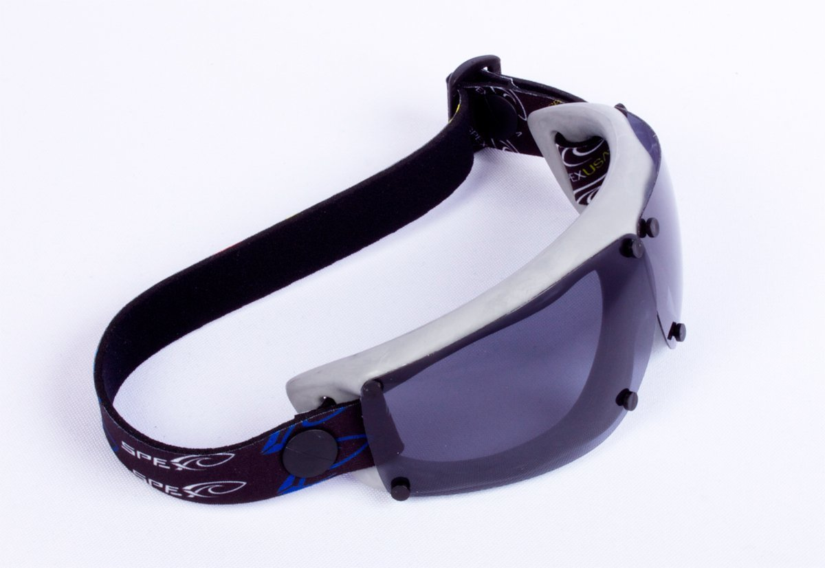 SPEX Amphibian Eyewear. GREY with All WEATHER Polarized Lenses. Made in USA. SPEX float and offer 100% UV Protection. Ideal for all water sports. Protect 2 of Your Most Valuable Assets...Your Eyes