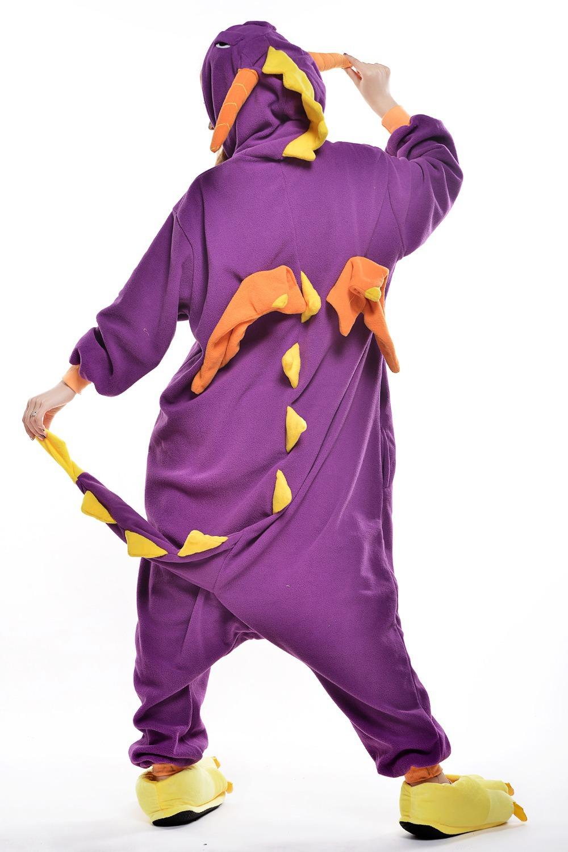 Adult Purple Dinosaur Costume 5