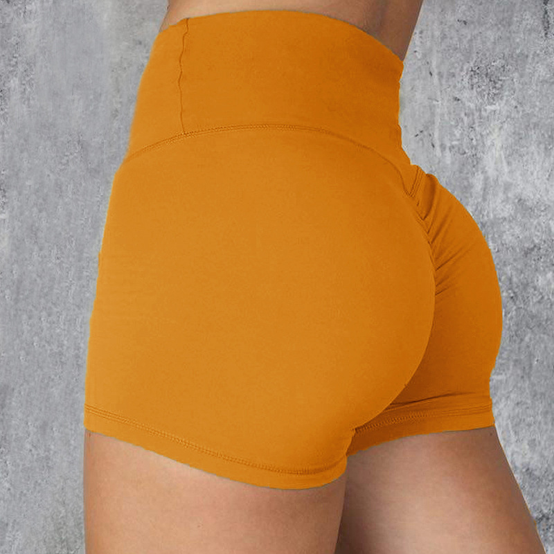Sexy frauen Sport Hohe Taille Fitness Shorts Gym Athleitic Workout Yoga Shorts Athletisch Atmungsaktive Feste Farbe GYM Shorts