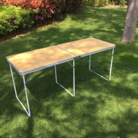 Easy aluminum folding picnic camping table for garden party