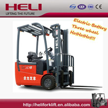 Heli Brand G Series three wheel 1.5 ton electric forklift price