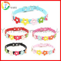 Single Row Little Flower Cute Cat Dog Pet Collar
