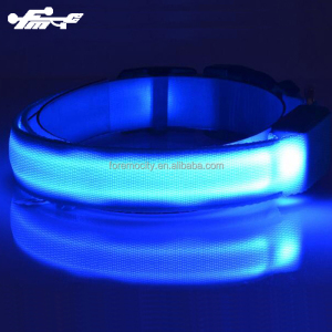 2018 new pet products Reflective led flashing dog collar usb rechargeable