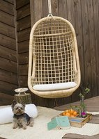 rattan swing chair