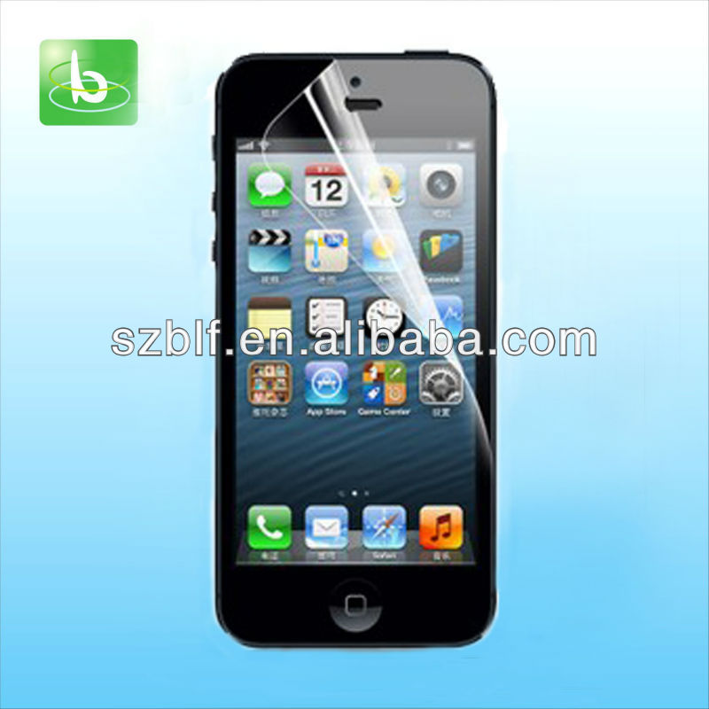 2012 Newest model high quality ultra clear for iphone 5 screen protector