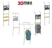 Removable coat rack stand for advertising