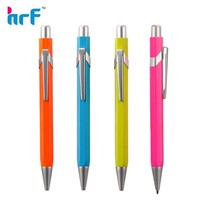 Bright color metal ball pen, simple metal ball point pen for students