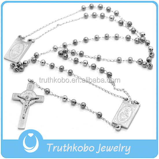 Factory Price Personalized Anchor Interchangeable Benedict Square Pendant Crucifix Jewelry Necklace