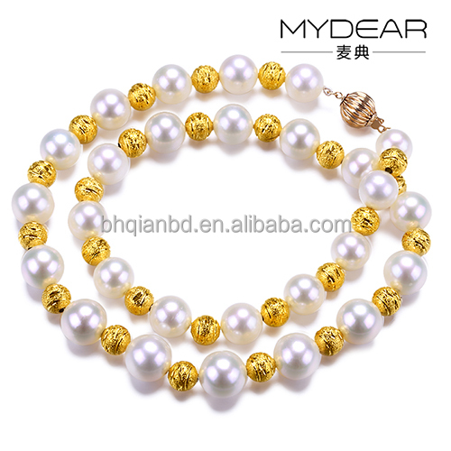 Top quality bracelet jewelry/ Southern Ocean Pearl with 18K Gold for lady