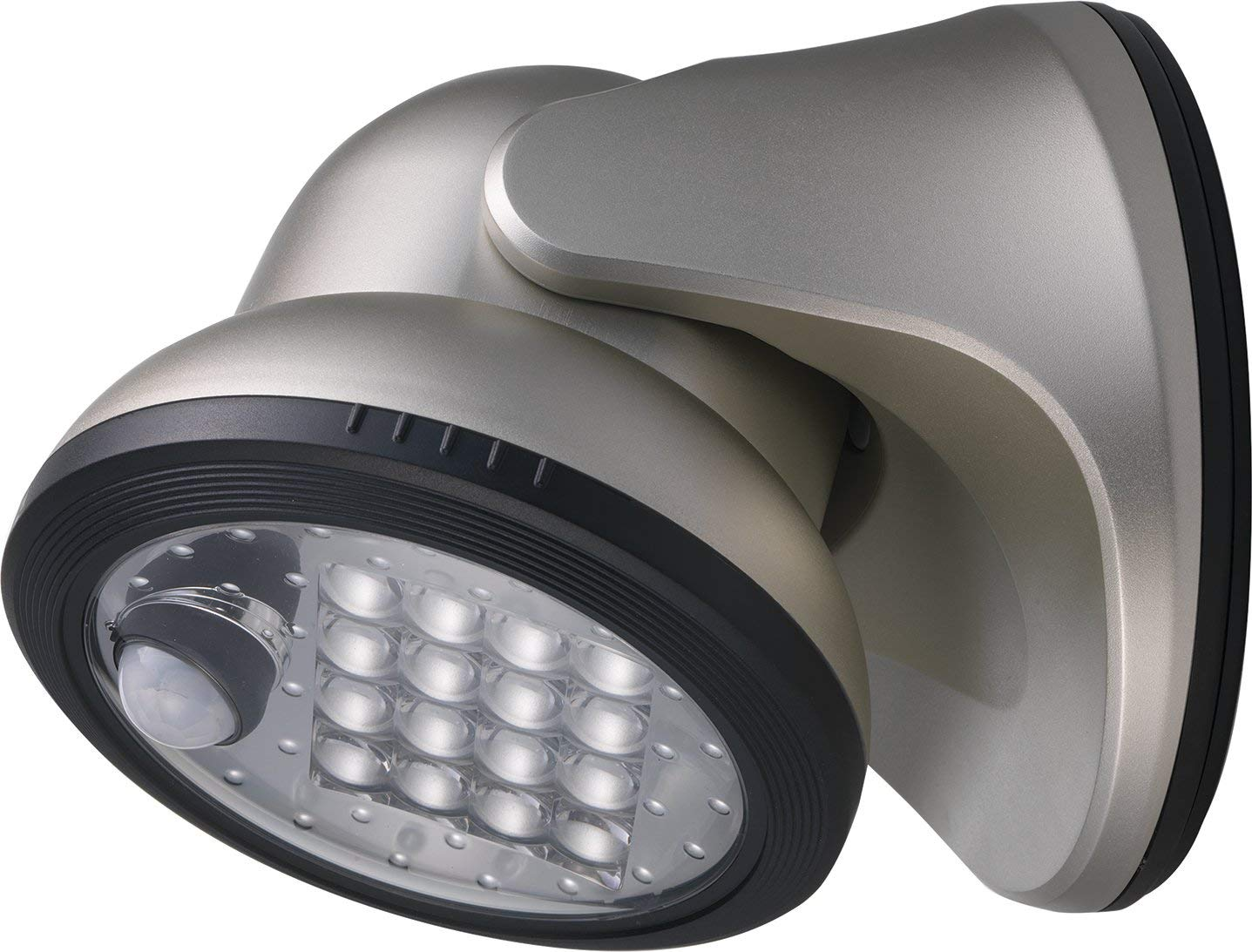 LIGHT IT! by Fulcrum 20038-101 16-LED Battery-Powered, Motion-Activated Porch, Silver
