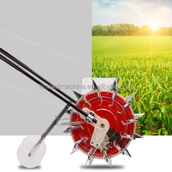 Iran Hot Sale Hands Pushing Seeder Manual Bean Seeder Machine Peanut