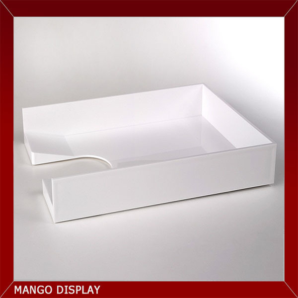 Deluxe white acrylic document tray
