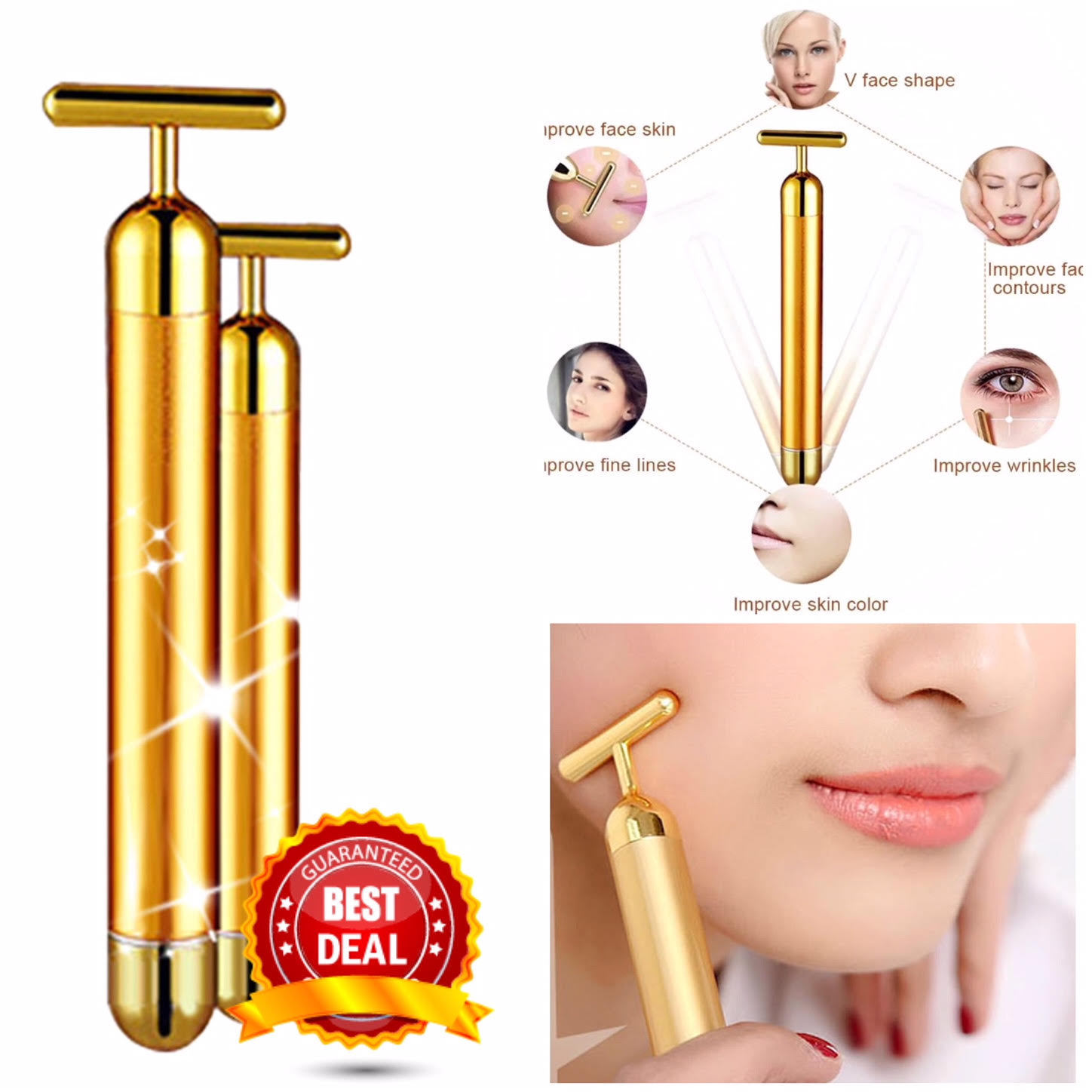 Beauty product for women skin tightening 24K gold beauty bar