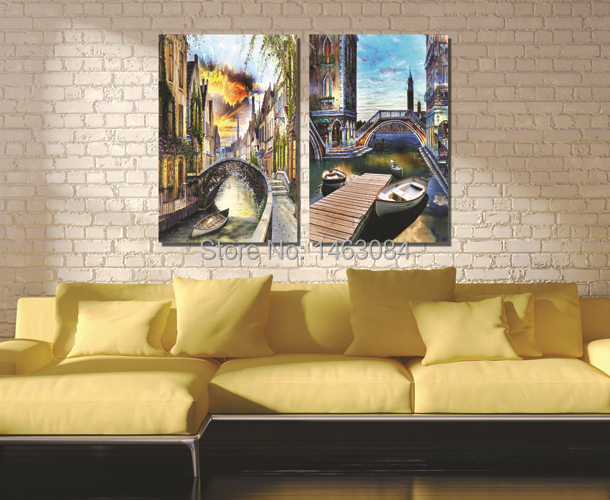 Wall Decor Home Goods: Free-Shipping-2-Pieces-Wall-Art-Set-Art-Pictures-Venice