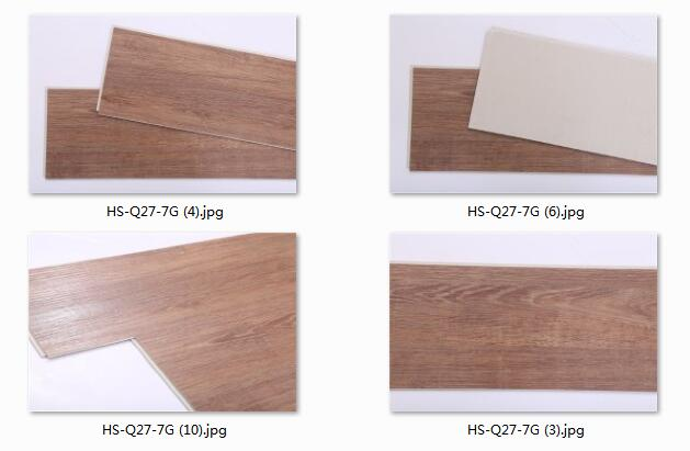 New model flooring tiles Commerical 5.5mm SPC LVT PVC floor wood design