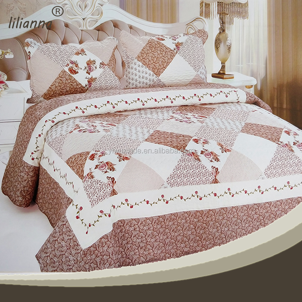 Ribbon embroidery bedspread designs - Embroidery Bedding Embroidery Bedding Suppliers And Manufacturers At Alibaba Com