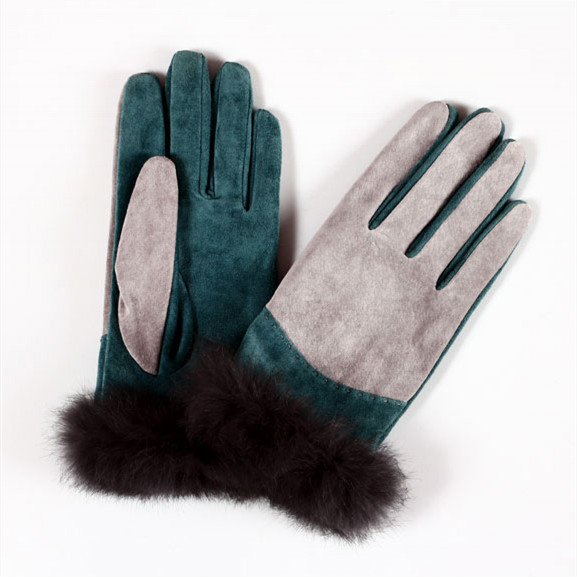leather gloves high women motorcycle winter canada with fur