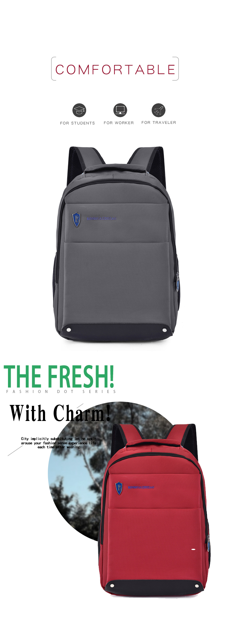 Computer Backpack with USB Charging Port back pack for Men Women laptop bag pack school 15 inch bag laptop