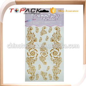 Free sample wholesale body water based temporary tattoo