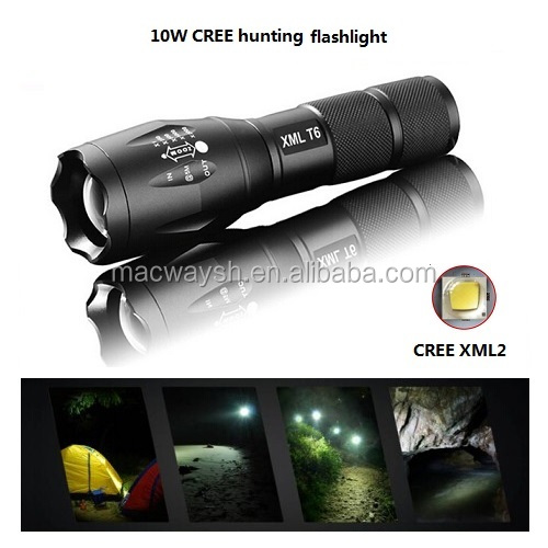 LED Tactical flashlight - Brightest Max 800 Lumens, High Power Zoom 5 Modes With Strobe Torch Light For Camping,Survival
