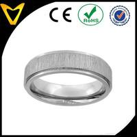 Titanium Ring Mens Wedding Engagement Band Rings, Titanium 6MM Flat Wedding Band Ring Brushed Center Recessed Edge Comfort Fit