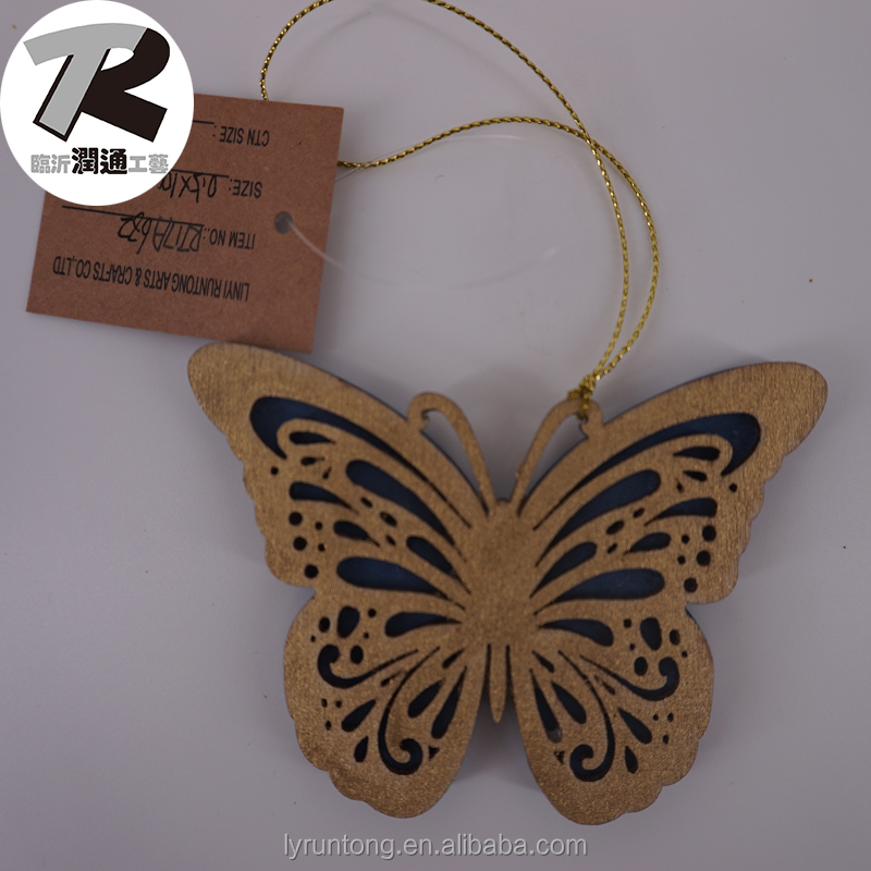 Laser Cut wood carving butterfly