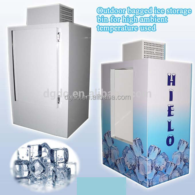 Outdoor Bagged Ice Storage Bin For High Ambient Temperature Used Outside Merchandise