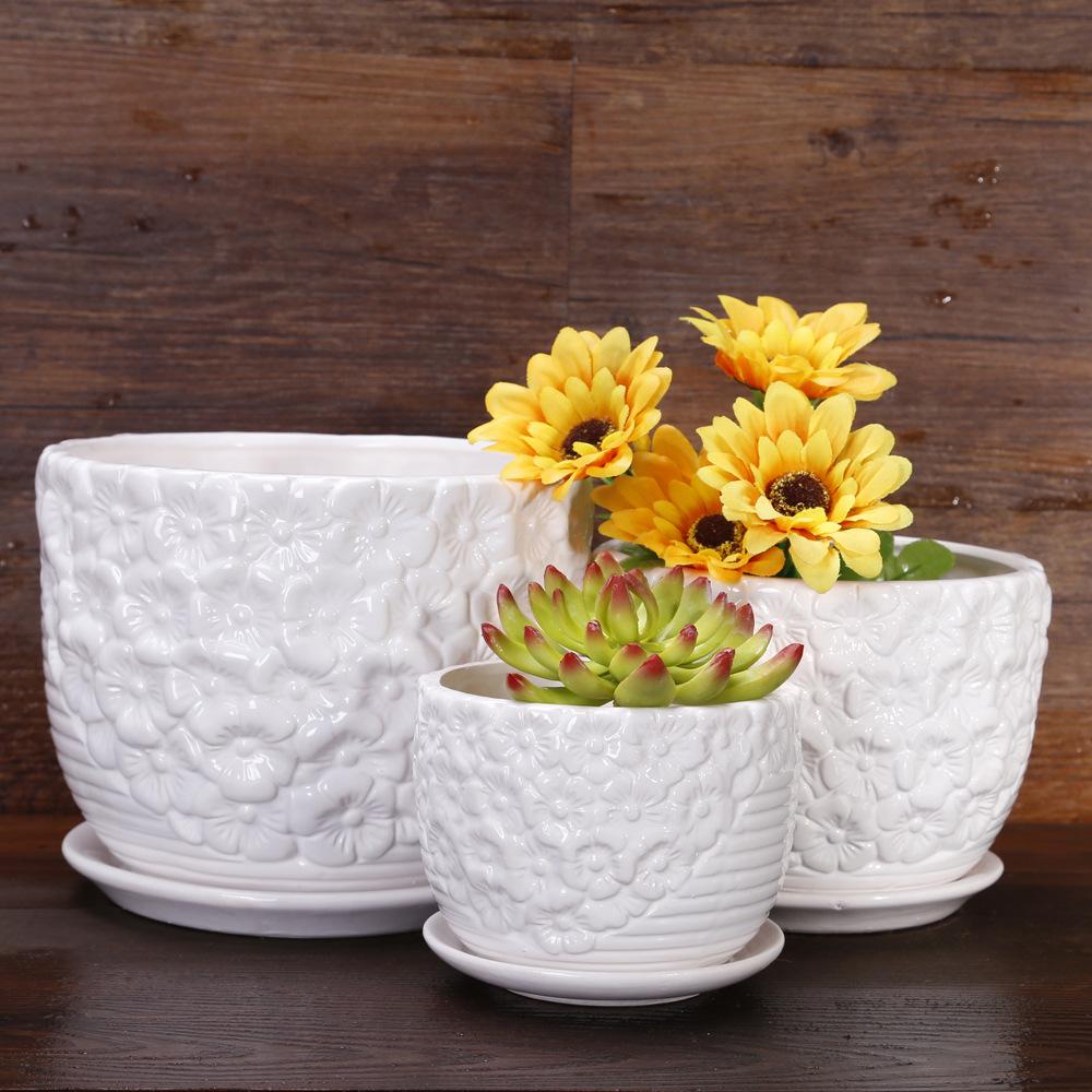 Caliente barato cer mica de arcilla planta de suministros - Macetas de porcelana ...