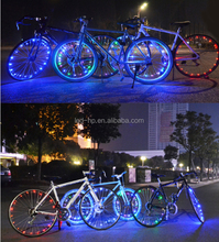 Whole sale 5' or 7' battery operated bicycle RGB blue Green Red bike led string light