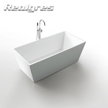 Enamel Bathtub Safe Man-made For Elderly Guangdong Artificial Stone Soft Above Ground Cold Bath Tub With High Quality