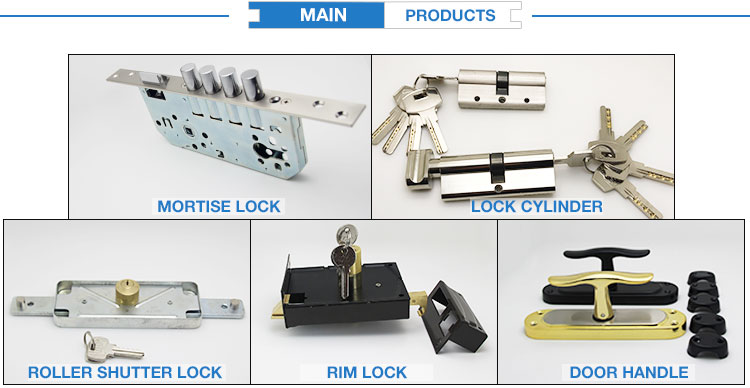 3055 aluminum profile handle lock with europe cylinder