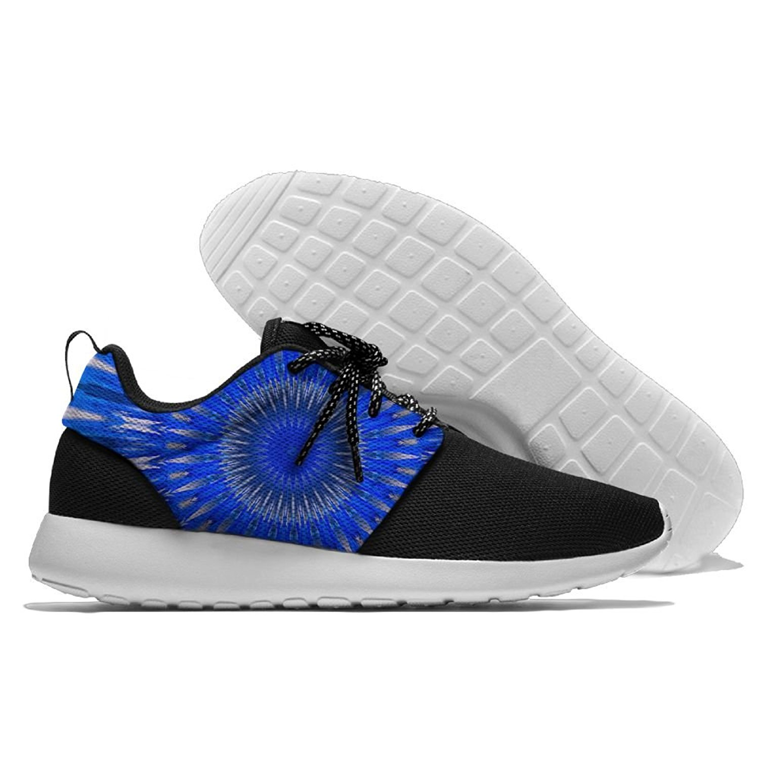 online store 0cfe3 75462 Get Quotations · Men Women Gym Shoes Athletic Sneakers Blue Feather Circle  Mesh Training Shoes Running Shoes