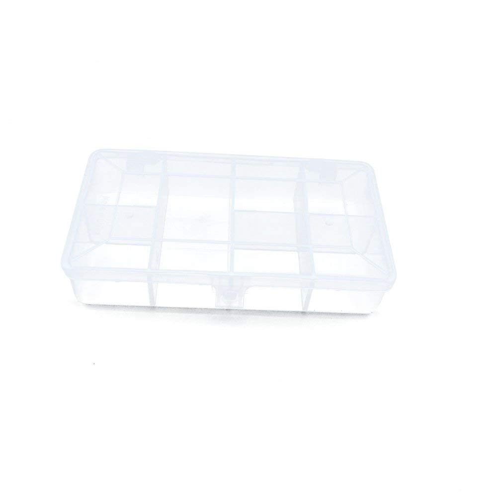 10 PCS Clear Beads Tackle Box Arts Crafts Tackle Storage Plastic Boxes Organizers Containers Case XX011