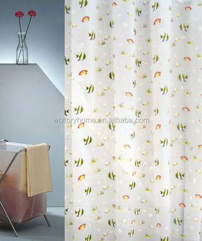 Good Quality Hotel PEVA Plastic Transparent Clear Bathroom Shower Curtain