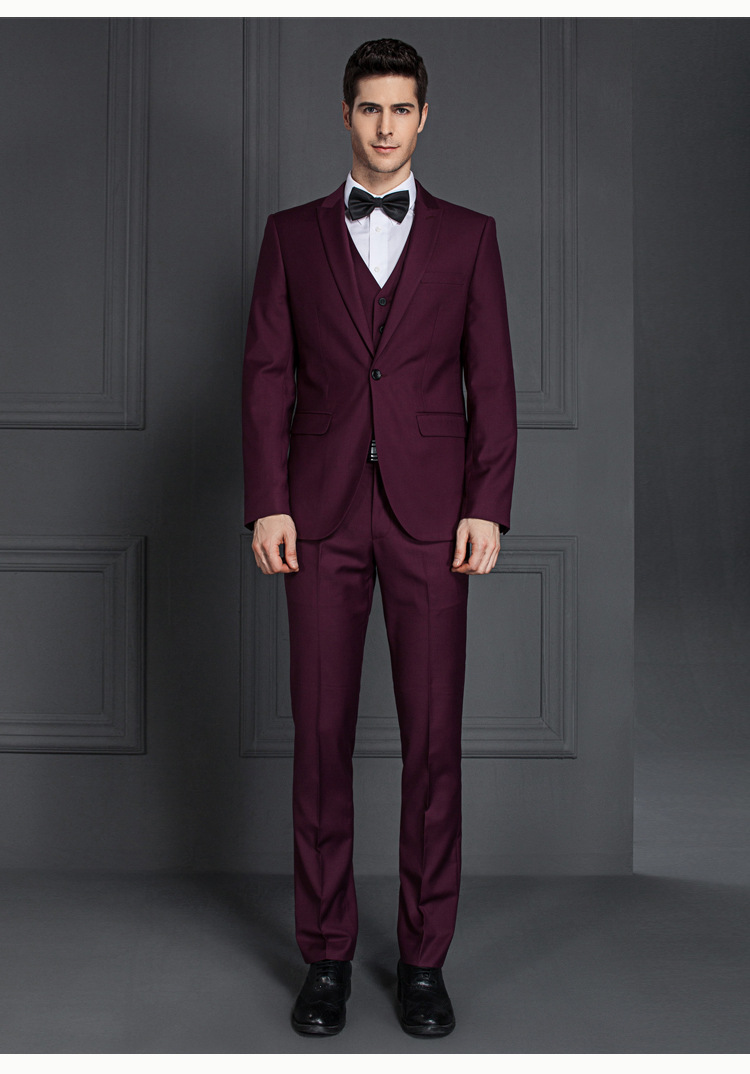 Made To Measure Mens Fancy 3 Piece Suit Wedding - Buy 3 Piece Suit ...