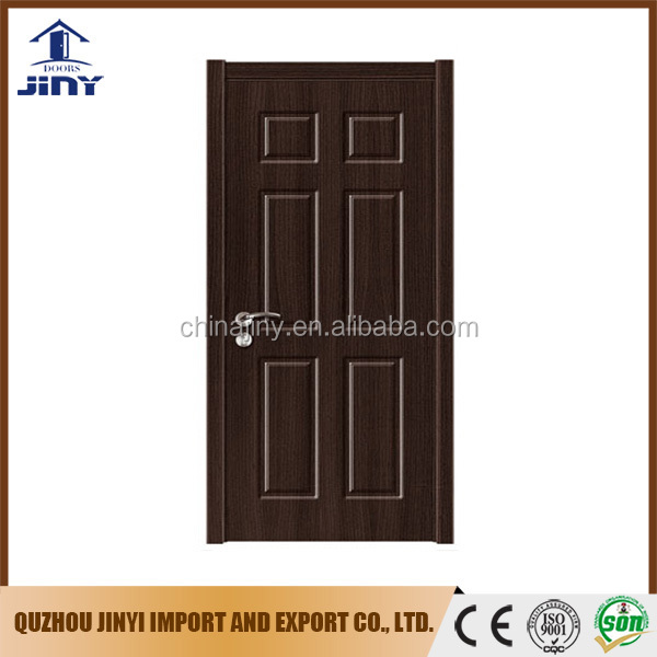 Nigeria style Black Walnut color pvc mdf door with soncap