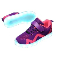 Custom Fashion Boys Led Light Lace Up Luminous Casual Kids Shoes Sneakers