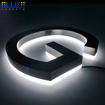 Backlit led stainless steel letter sign 3D letters in advertising