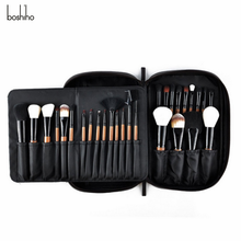 Boshiho Portable PU Leather 28 건 Lady 여행 아름다움 키트 <span class=keywords><strong>화장품</strong></span> 메이 컵 메이 컵 Brush Storage Bag Bags