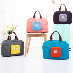Wholesale custom logo promotion suitcase foldable travel tote bag luggage duffel bag