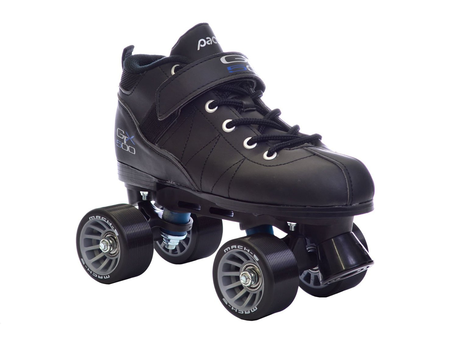Pacer GTX-500 Black Quad Roller Derby Speed Skates Youth Sz 1