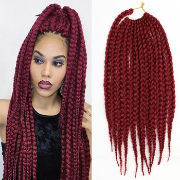 Newest 14 Inches Crochet Box Braids Hair Extensions 1b 4 613