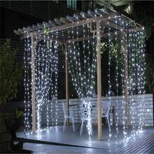 Vánoční venkovní osvětlení-záclona, 3×3 m, 300 LED