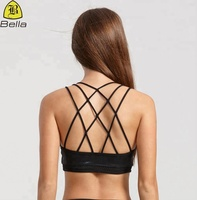 Fashionable wholesale top quality cheap yoga clothing women sexy sports bra