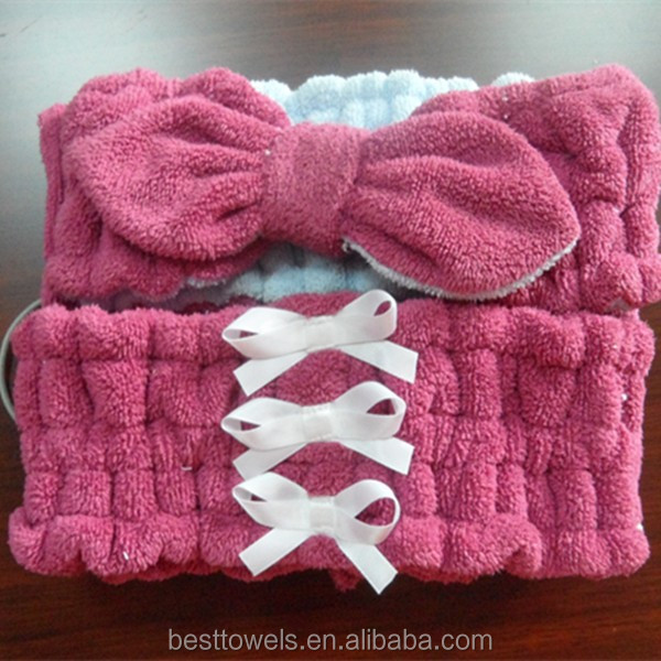 wholesale custom ladies bath big bow lovely head hair band