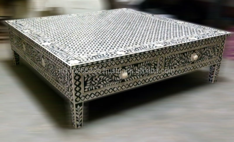 Indian Bone Inlay Coffee Table   Buy Bone Inlay,Indian Bone Inlay,Bone Inlay  Decor Product On Alibaba.com