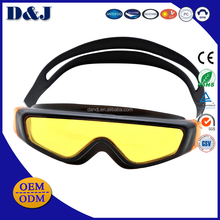 Wholesale OEM/ODM Silicone Comfortable One piece TPR Hot Sale Safety Anti-fog Anti-leak Swimming Goggles for adults
