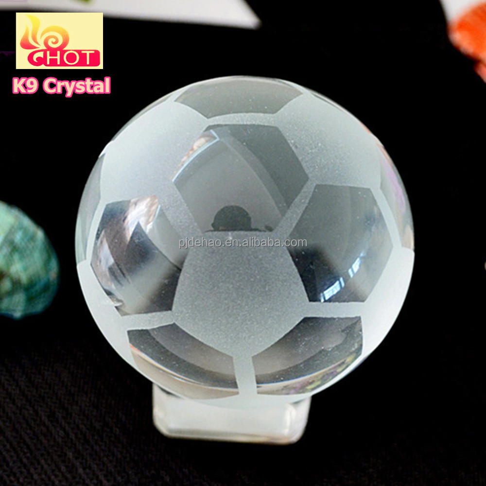 K9 material High Quality 200mm Crystal Football Crystal Sports Ball